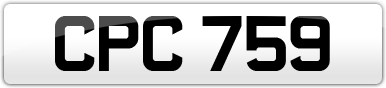 Plate image for registration plate CPC759