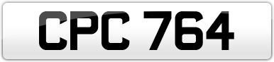 Plate image for registration plate CPC764