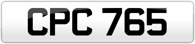 Plate image for registration plate CPC765