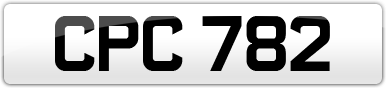 Plate image for registration plate CPC782