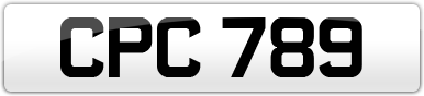 Plate image for registration plate CPC789
