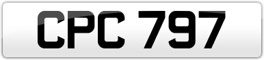 Plate image for registration plate CPC797