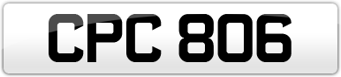 Plate image for registration plate CPC806