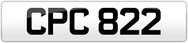 Plate image for registration plate CPC822