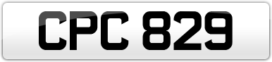 Plate image for registration plate CPC829