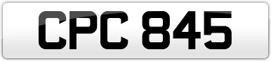 Plate image for registration plate CPC845