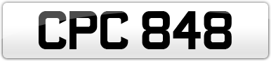 Plate image for registration plate CPC848