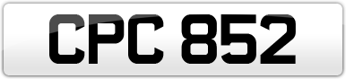 Plate image for registration plate CPC852