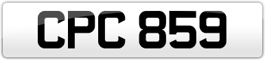 Plate image for registration plate CPC859