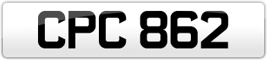 Plate image for registration plate CPC862
