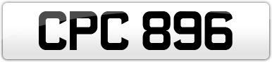 Plate image for registration plate CPC896