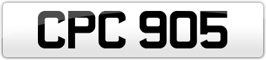 Plate image for registration plate CPC905