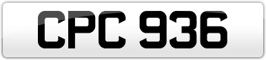 Plate image for registration plate CPC936