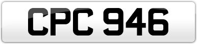 Plate image for registration plate CPC946