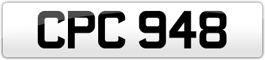 Plate image for registration plate CPC948
