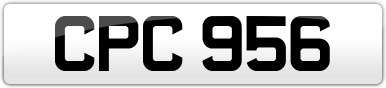 Plate image for registration plate CPC956