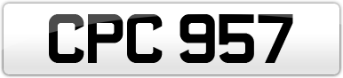 Plate image for registration plate CPC957
