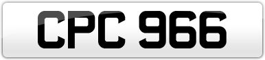 Plate image for registration plate CPC966