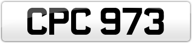 Plate image for registration plate CPC973