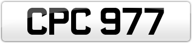 Plate image for registration plate CPC977