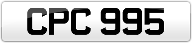 Plate image for registration plate CPC995
