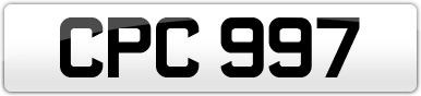 Plate image for registration plate CPC997