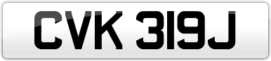 Plate image for registration plate CVK319J