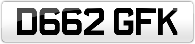 Plate image for registration plate D662GFK