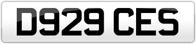 Plate image for registration plate D929CES