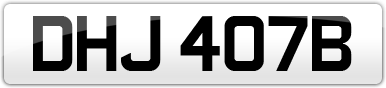 Plate image for registration plate DHJ407B