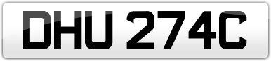 Plate image for registration plate DHU274C