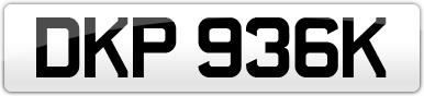 Plate image for registration plate DKP936K