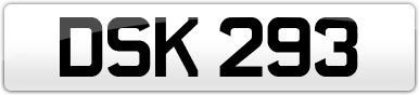 Plate image for registration plate DSK293