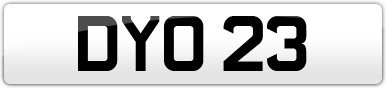 Plate image for registration plate DYO23