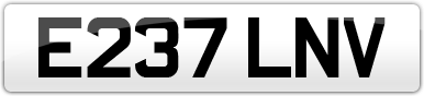 Plate image for registration plate E237LNV