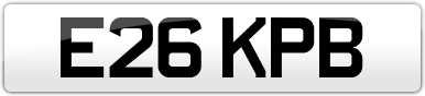 Plate image for registration plate E26KPB