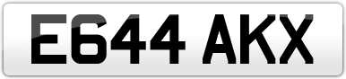 Plate image for registration plate E644AKX