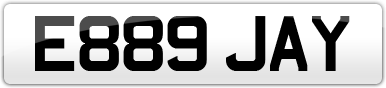 Plate image for registration plate E889JAY