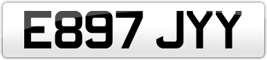 Plate image for registration plate E897JYY