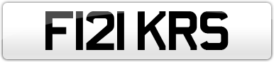 Plate image for registration plate F121KRS