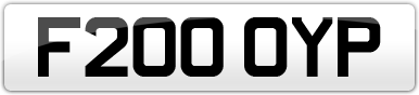 Plate image for registration plate F200OYP