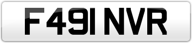 Plate image for registration plate F491NVR