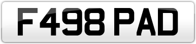Plate image for registration plate F498PAD