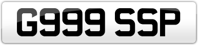 Plate image for registration plate G999SSP