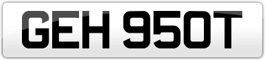 Plate image for registration plate GEH950T