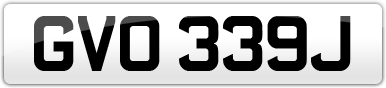 Plate image for registration plate GVO339J
