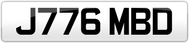 Plate image for registration plate J776MBD
