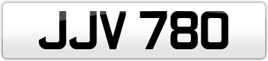 Plate image for registration plate JJV780