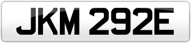 Plate image for registration plate JKM292E