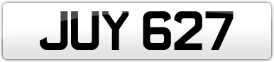 Plate image for registration plate JUY627